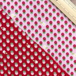いちごプリント生地【10cm単位の切売り】strawberry/苺/(SB-6114-D3)