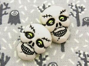 【輸入ボタン】ハロウィン/ガイコツ/骸骨/スカルButtons Galore ボタン 3個セット Happy Halloween(Skulls)BG-HH123