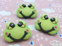 【輸入ボタン】ButtonsGaloreボタン3個セットBabyHugs(Froggy)カエル/蛙