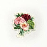 【フランスメーカー】花束ブーケアップリケ/ワッペン(SM-16146)