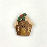 コテージ家木ボタン【ヨーロッパ製ボタン】【1個単位での販売です】