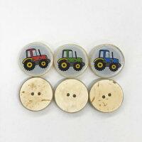 【ヨーロッパ製ボタン】トラクターボタン約17mmJIM-13477