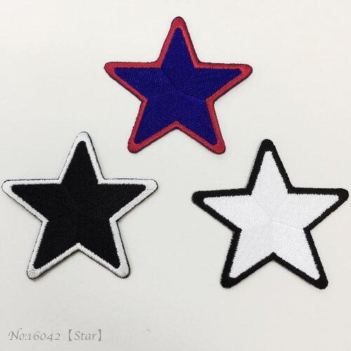 【ヨーロッパ製アップリケ】star-5*5スター/星刺繍 モチーフ アップリケ/ワッペン 1個単位での販売です。