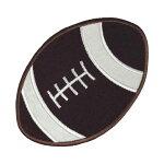 【大きめワッペン】フットボール約12×8cmアイロン接着OKPM-Football