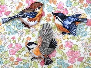【ヨーロッパ製アップリケ】鳥(とり)アップリケ/ワッペン (SM-15827)