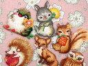 【ヨーロッパ製アップリケ】 動物(とり、うさぎ、りす、はりねずみ、きつね、ふくろう) アップリケ/ワッペン (SM-15839)