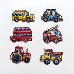 【ヨーロッパ製アップリケ】スクールバス/消防車/ロンドンバス/ダンプカー/働く車アップリケ/ワッペン1個単位での販売です。