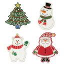 クリスマス(サンタクロース、ツリー、スノーマン、シロクマ) 【ヨーロッパ製アップリケ/ワッペン】 1個単位での販売で…