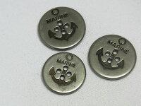 【ヨーロッパ製ボタン】MARINE*マリンイカリ柄*メタルボタン約20mm1個単位での販売です。