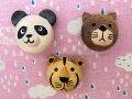 【ヨーロッパ製ボタン】パンダ・トラ・ネコ木ボタン1個単位での販売です。