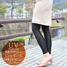 遮蔽率99%以上!日本製 遮光 UVレギンス ロサブラン吸汗速乾 消臭 ストレッチ UVカットウェア レディース