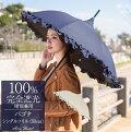 99%ではダメなんです!100%完全遮光晴雨兼用日傘ダブルフリルパゴダ50cm【RoseBlanc】遮熱軽量涼感ブランド傘パラソル1級遮光9