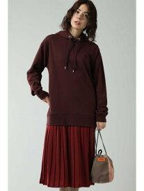 [Rakuten Fashion]パーカー&プリーツスカートドッキングワンピース ROSE BUD ローズバッド ワンピース ワンピースその他 ブラウン ブラック ベージュ【送料無料】