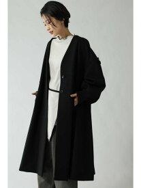[Rakuten Fashion]ノーカラーコート ROSE BUD ローズバッド コート/ジャケット コート/ジャケットその他 ブラック カーキ【送料無料】