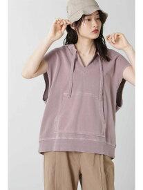 [Rakuten Fashion]【SALE/50%OFF】ノースリーブメキシカンパーカ ROSE BUD ローズバッド カットソー Tシャツ パープル ベージュ イエロー【RBA_E】【送料無料】