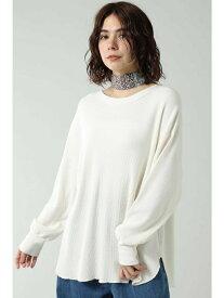 [Rakuten Fashion]【SALE/30%OFF】ワッフルカットソー ROSE BUD ローズバッド カットソー Tシャツ ホワイト グレー カーキ【RBA_E】【送料無料】