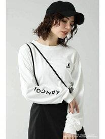 [Rakuten Fashion]【SALE/30%OFF】KANGOLTシャツ ROSE BUD ローズバッド カットソー Tシャツ ホワイト ベージュ レッド【RBA_E】【送料無料】