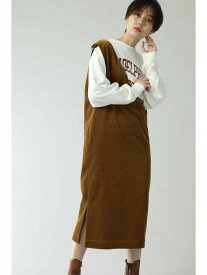[Rakuten Fashion]コーデュロイジャンパースカート ROSE BUD ローズバッド ワンピース ワンピースその他 ブラウン ブラック【送料無料】