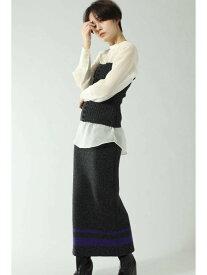 【SALE/64%OFF】ビスチェ付リブスカート ROSE BUD ローズバッド スカート スカートその他 グレー ベージュ【RBA_E】【送料無料】[Rakuten Fashion]
