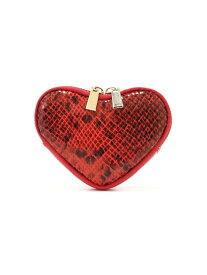[Rakuten Fashion]パイソン柄ハートモチーフコインケース ROSE BUD ローズバッド 財布/小物 財布 レッド ブラック