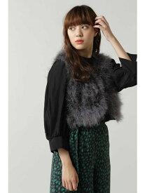 [Rakuten Fashion]マラボーショートベスト ROSE BUD ローズバッド コート/ジャケット コート/ジャケットその他 グレー ベージュ ブラウン【送料無料】