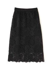 [Rakuten Fashion]フラワーレーススカート ROSE BUD ローズバッド スカート スカートその他 ブラック ピンク グリーン【送料無料】