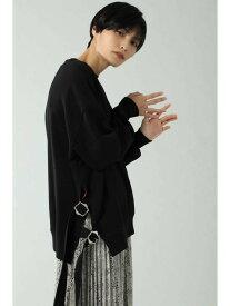 [Rakuten Fashion]サイドベルト裏毛トップス ROSE BUD ローズバッド カットソー Tシャツ ブラック ホワイト【送料無料】