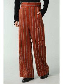 【SALE/55%OFF】ストライプワイドパンツ ROSE BUD ローズバッド パンツ/ジーンズ パンツその他 ブラウン【RBA_E】【送料無料】[Rakuten Fashion]