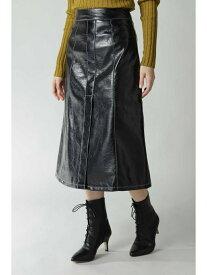 【SALE/55%OFF】フェイクレザースカート ROSE BUD ローズバッド スカート スカートその他 ブラック【RBA_E】【送料無料】[Rakuten Fashion]