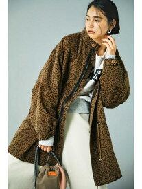[Rakuten Fashion]スタンドネックレオパードコート ROSE BUD ローズバッド コート/ジャケット コート/ジャケットその他 ブラウン カーキ【送料無料】