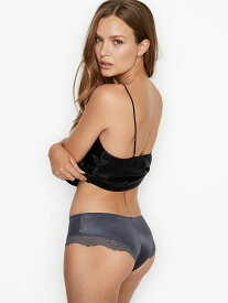 VICTORIA'S SECRET ヴィクトリアシークレット下着 VERY SEXY Micro Lace Inset Cheeky Panty Black Pearl マイクロレースインセット チーキーパンティー 11177301