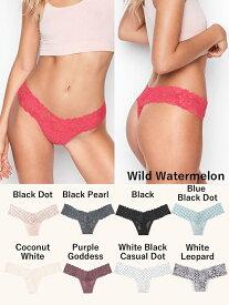 VICTORIA'S SECRET ヴィクトリアシークレット 下着 パンツ パンティー THE LACIE Floral Lace Thong Panty Logo Waist フローラルレースひもパンティ
