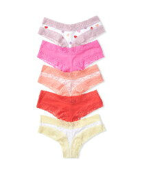 VICTORIA'S SECRET ヴィクトリアシークレット下着 5-pack Cotton Lace Waist Cheeky Panties チーキーパンティーセット 11180506