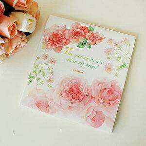 便箋 メモリーローズ 薔薇柄 日本製 メール便可 文具 メモ帳 薔薇柄 花柄 ノート レターセット ピンク かわいい おしゃれ エレガント