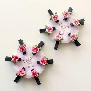 クリップ 薔薇雑貨 ローズクリップ6個セット かわいい おしゃれ プレゼント マグネット ギフト 姫系雑貨 文具
