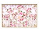 ランチョンマット ストライプ ミオラローズ ライトピンク テーブルマット メール便可 薔薇雑貨 姫系 かわいい 花柄