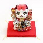 置物招き猫プリンセスキャットゴールド猫ネコおしゃれギフトプレゼントインテリア開運