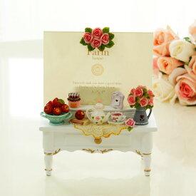 フォトフレーム マリーローズテーブル型アクリル板 L判サイズ 写真立て 結婚祝い 出産祝い ギフト 母の日 ウエディング かわいい おしゃれ