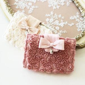 カードケース ミニローズカードファイルケース メール便可 薔薇雑貨 姫系 おしゃれ かわいい カードホルダー ばら雑貨 ギフト