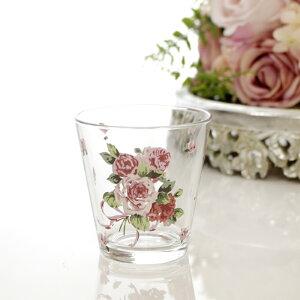 タンブラー ローズヴィーナス グラス コップ 日本製 薔薇 雑貨 姫系 食器 花柄