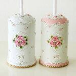 パウダーローズトイレブラシ薔薇雑貨姫系雑貨おしゃれピンクレースかわいい