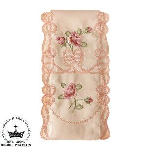 トイレットペーパーホルダーカバー ピンク 薔薇 メール便可 エレガント かわいい 刺繍 ローズ おしゃれ