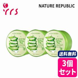 ★3個セット [NATURE REPUBLIC] Soothing & Moisture Aloe Vera 92% Soothing Gel - 300ml x 3pcs / 正規品 スージング&モイスチャーアロエベラ92%スージングジェル