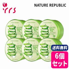★6個セット [NATURE REPUBLIC] Soothing & Moisture Aloe Vera 92% Soothing Gel - 300ml x 6pcs / 正規品 スージング&モイスチャーアロエベラ92%スージングジェル