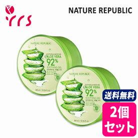 ★2個セット [NATURE REPUBLIC] Soothing & Moisture Aloe Vera 92% Soothing Gel - 300ml x 2pcs / 正規品 スージング&モイスチャーアロエベラ92%スージングジェル