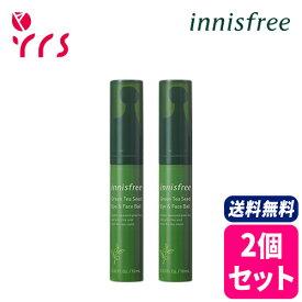 ★2個セット [INNISFREE イニスフリー] Green Tea Seed Eye And Face Ball - 10ml x 2 / 正規品 グリーンティー シード アイ&フェイスボール