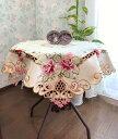 薔薇の花 カットワーク刺繍 テーブルクロス85X85cm 新入荷
