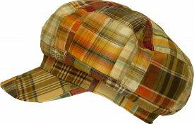 大きいサイズの帽子OKSP358コットンパッチワーク408キャスケット
