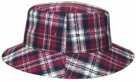 帽子・大きいサイズOK・ヴィンテージ風ネルチェック313ハット