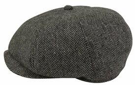 ウールヘリンボン477ハンチング sp108帽子・日本製・大きいサイズOK・暖かい